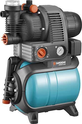 GARDENA 01755-61 Hauswasserwerk 5000/5 eco 1100 W, türkis, schwarz, Orange