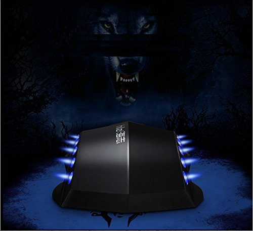 haizhi G1Nero LED cavo USB Gaming Mouse 3d rotolamento ruota Retroilluminato 3d 2000DPI mouse Laptop (G1 Usb)