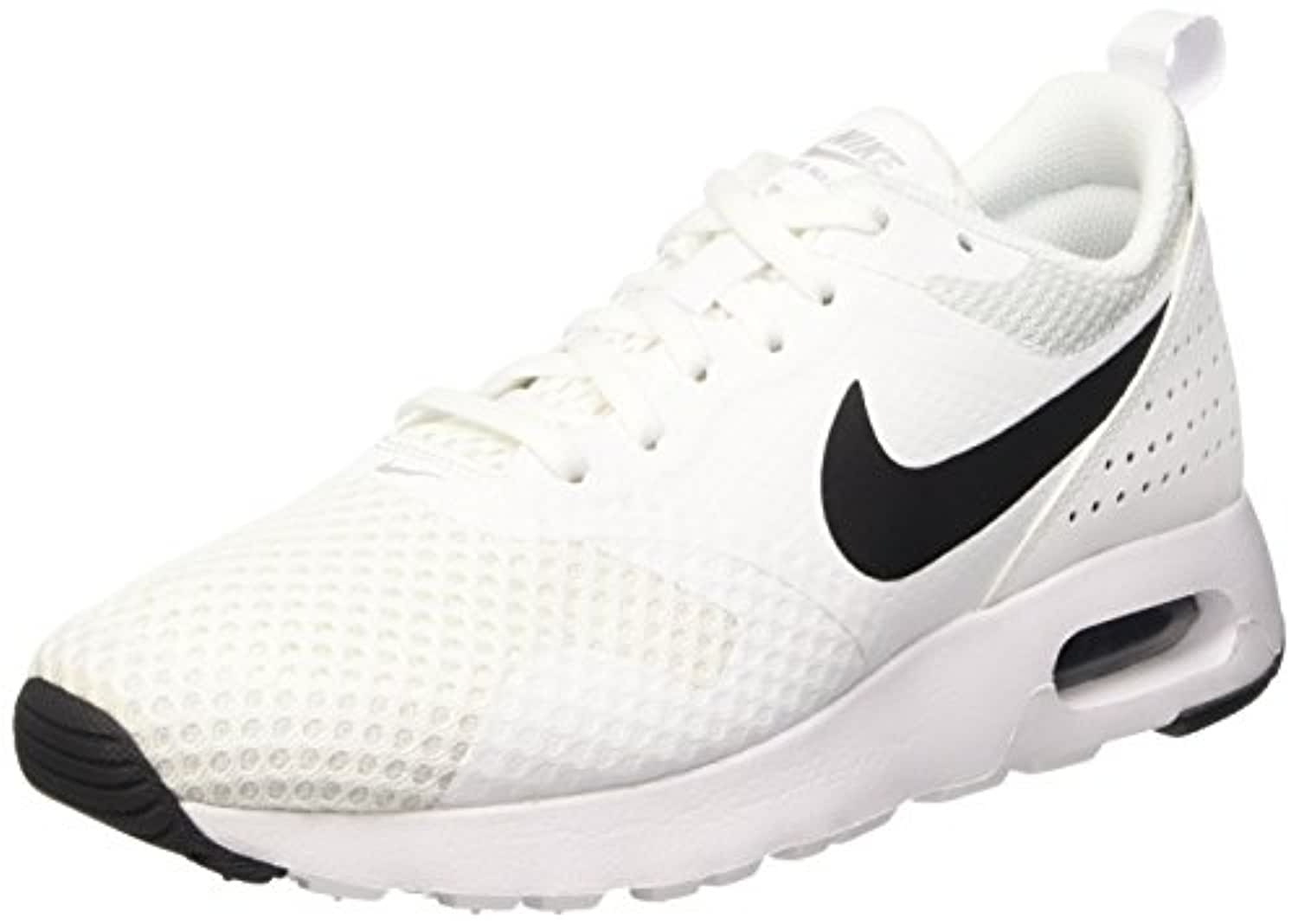 Nike Boys' Air Max Tavas Br (Gs) Gymnastics Shoes, Bianco (White/Black-White), 3 UK
