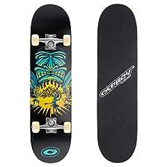 Idea Regalo - Skateboard completo per tricks double kick Osprey, principianti deck acero 31