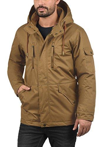 INDICODE Elmhurst Herren Winterjacke Jacke mit Kapuze aus hochwertiger Baumwollmischung Tobacco (012)