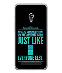 PrintVisa Designer Back Case Cover for Asus Zenfone 6 A600CG (Inspirational Wordings Sayings Words)