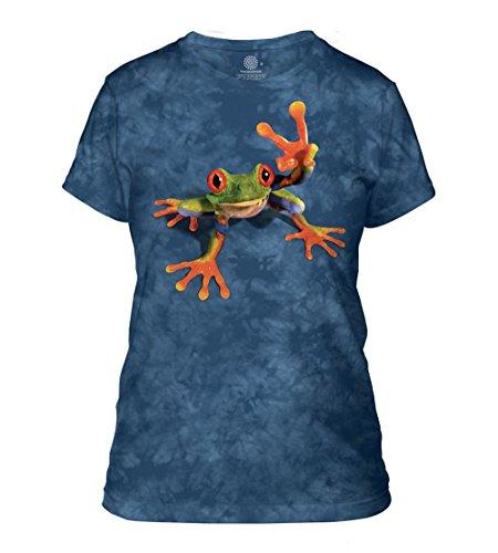The Mountain Junior Victory Frosch T-Shirt - Blau - Mittel