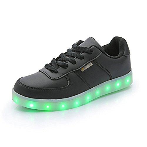 COOLER KIPTOP 7 Farbe USB Aufladen LED Leuchtend Sport Schuhe Schwarz weiß Sneaker für Unisex-Erwachsene Herren Damen für Damen Herren