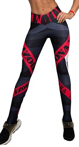 Monika Donna Sport Palestra Yoga Allenamento Mid Waist Running Pantaloni Fitness Elastic Leggings Pantaloni da Jogging