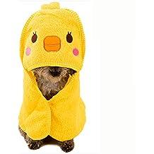 DAN Toalla De Perro Toalla De Microfibra para Mascotas Toalla De Baño Súper Perro Absorbente Albornoz