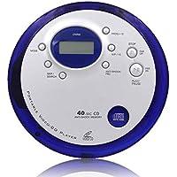 HHHKD Anticuada CD Walkman, Display Personal CD Retro del LCD del Jugador, Incluyendo El Control Remoto Y Auriculares Incluidos, Batería Recargable