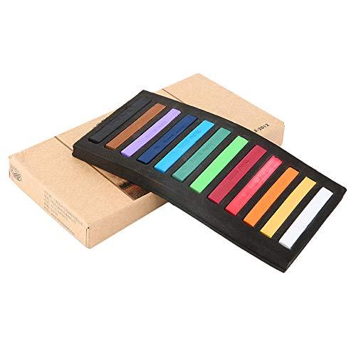 24.12.36.48 Color Magic Beauty Haarkreide temporäre Haarfärbemittel Color Sticks Kit Menge von 12 Farben