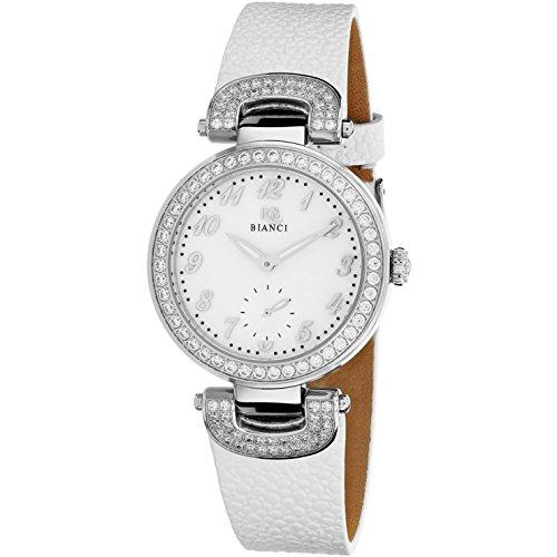 Roberto Bianci Women's Alessandra 31mm White Leather Band Quartz Watch RB0610