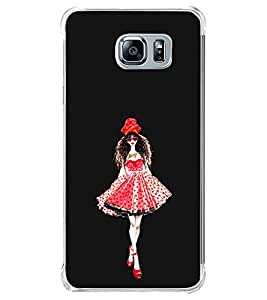 Girl in a Beautiful Dress 2D Hard Polycarbonate Designer Back Case Cover for Samsung Galaxy Note5 :: Samsung Galaxy Note5 N920G :: Samsung Galaxy Note5 N920T N920A N920I