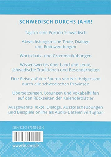 Sprachkalender Schwedisch 2019: Alle Infos bei Amazon