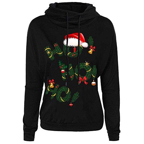 iHENGH Vorweihnachtliche Karnevalsaktion Damen Weihnachtsbrief Spitzenoberteil Frauen Sweatshirt -