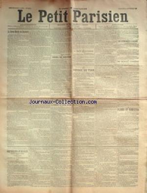 PETIT PARISIEN (LE) [No 7275] du 27/09/1896 - LA REVUE NAVALE DE CHERBOURG CONSEIL DES MINISTRES LA RENTREE DES CLASSES A PROPOS DU FUSIL RUSSE LE TRAITE ANGLO-TUNISIEN LE VOYAGE DU TSAR LES EVENEMENTS D'ORIENT PLUIES ET TEMPETES ORPHELINS D'ALSACE