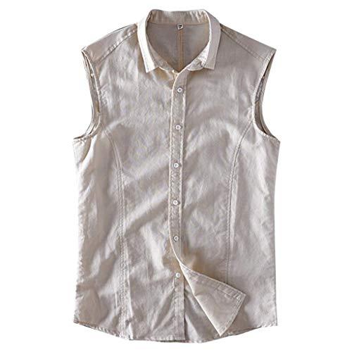 Eaylis Herren T Shirt Hemd KurzäRmliges Lockeres, KurzäRmliges Fashion Einfarbig Baumwolle Weste