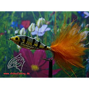 "Hechtfliege "" Minnow Perch Fly "" 3er Set Hakengröße 6"