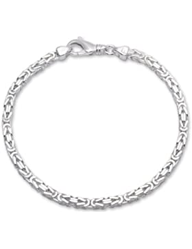 925 Silberarmband: Königsarmband Silber 3,5mm breit - Länge frei wählbar KA0035
