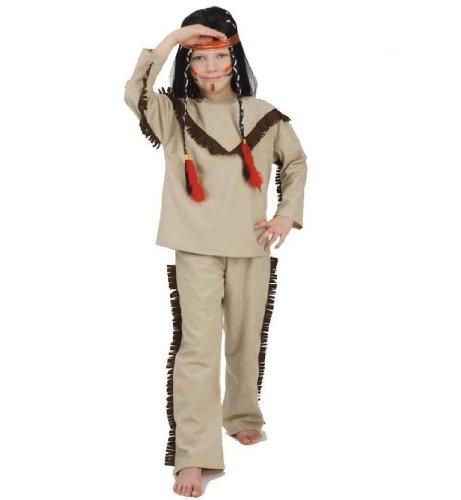 (Indianer Winnie 2tlg Oberteil + Hose Kinder Kostüm Gr. 128)