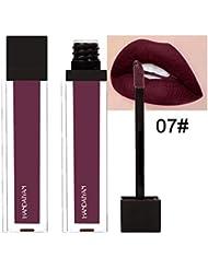 rouge à lèvres,LHWY FOCALLURE Imperméable à la lèvre lustre long durable liquide velours mat rouge à lèvres maquillage...