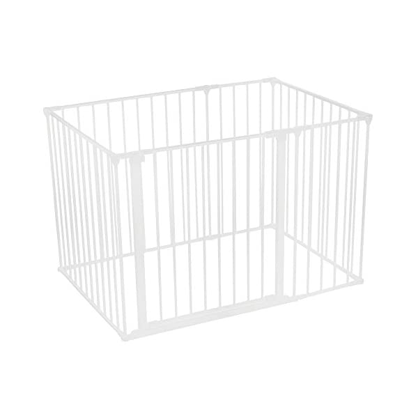 Safetots Play Pen (White, 72cm x 105 cm) Safetots The perfect solution for keeping baby in a safe area whilst they rest and play Includes 1x 72cm Gate Opening Panel, 2x 33cm Panels and 3x 72cm Panels Extra wide door section for easy access 1