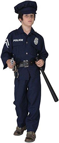 Fbi Jacke Kostüm (Polizisten-Kost�m f�r Jungen, Gr. S, 140 cm 5-7)