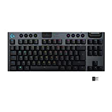 Logitech G915 TKL Tenkeyless LIGHTSPEED Wireless RGB Mechanical Gaming Keyboard,Clicky Switches, Low Profile Switch Options, LIGHTSYNC RGB, Advanced Wireless and Bluetooth Support - Black