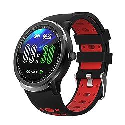 BingoFit Smartwatch Uhr, 1,3 Zoll Voller Touchscreen Fitness Armbanduhr mit Herzfrequenzmessung Schlafmonitor Schrittzähler Armbanduhr, Call Benachrichtigung Erinnerung IP67 Wasserdicht Fitness Uhr