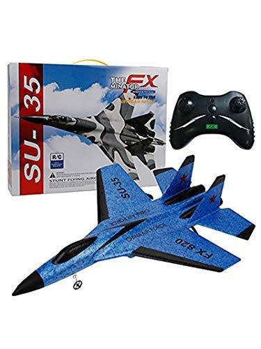 Drone mini su-35 rc telecomando elicottero aliante aereo epp schiuma 3,giocattoli fx-820 rc fisso-dimensioni piccolo aliante per aerei telecomando modello giocattolo di aeroplano (taglia unica, blu)
