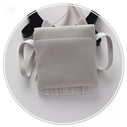 sunnymi Weich Quasten Taschen Frauen Nettes Muster Schultertasche Damen Niedliche Messenger Solid Taschen Kaffee