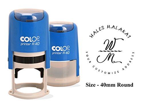 Colop R-40 Auto Inchiostrazione Timbro Plastica Chiara Stampa Personalizzata Timbro 40Mm