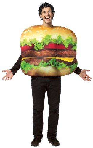 (MCS Lustiges Hamburger Herren-Kostüm bunt Einheitsgröße)