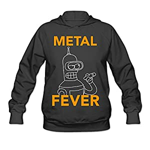 kKing Futurama Metal Fever Women's Personalized Hoodie Black