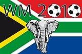 WM 2010 Fanfahne Südafrika Motiv2 Fahne Flagge Grösse 1,50x0,90m