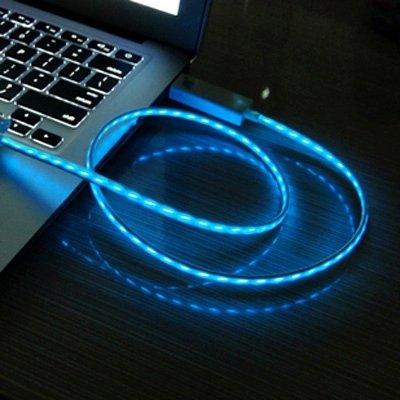 Mxnet Blue Visible Light USB Sync Daten / Ladekabel für Samsung Galaxy S IV / I9500, HTC One / M7, Nokia Lumia 925/920/520, LG Optimus G Pro, Länge: 1m rutschsicher Telefon-Kasten ( SKU : S-SCS-0787BE ) (Nokia Lumia Telefon-kasten 520)