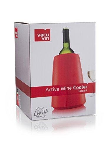 Vacu Vin Roter Eiskübel mit Kühlmittel