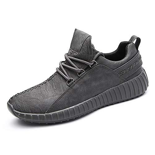 Sneakers da Ginnastica Sportive Scarpe da Passeggio Jogging Vegane Calzature da Allenamento Uomo Lace up Grigio 43