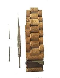 Correa de reloj de pulsera de madera de bambú (19cm