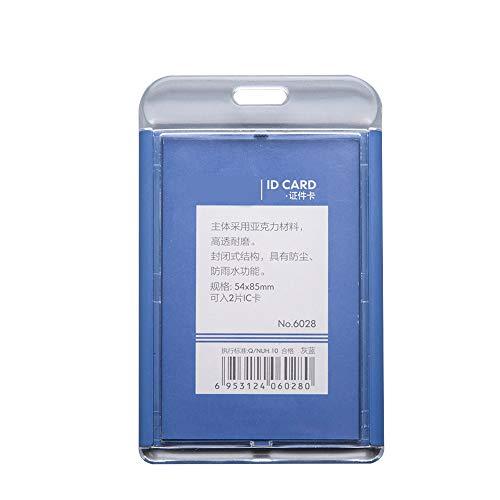 Especificaciones: Material: acrílico y plástico. El paquete incluye: 6 soportes para tarjetas de identificación. 6 correas.