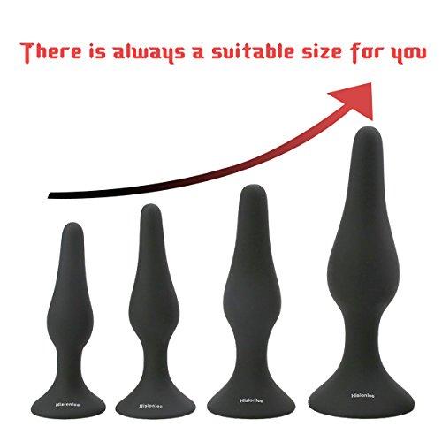 Hisionlee-Sexy-Toys-5PCS-Anal-Plug-Set-Medizinisches-Silikon-Sinnlichkeit-Analspielzeug-schwarz