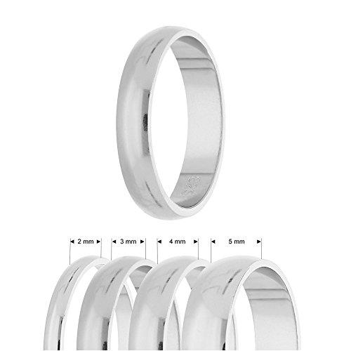 Ring - 925 Silber - Glänzend - 4 Breiten - Silber [40.] - Breite: 5mm - Ringgröße: 52