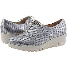 b238b9dfdcd Amazon.es  blucher zapatos mujer - Plateado