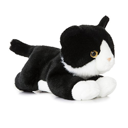 Aurora World 11-Inch Luv to Cuddle Cat Plush (Black/White)