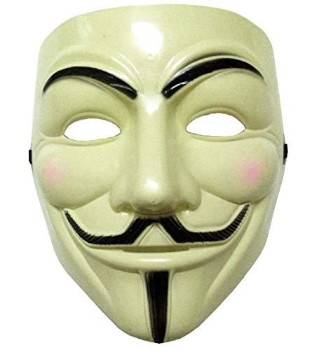 Mädchen Vendetta Kostüm - Inception Pro Infinite Maske - Farbe Gelb - Karneval - Halloween - Frau - Mann - V wie Vendetta - Guy Fawkes - Film - Berühmt - Unbekannt