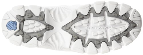 K-Swiss Womens ST329 White/Silver/Carolina