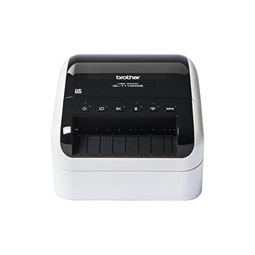 Brother QL-1110NWB Etikettendrucker (Schnittstellen: USB, WLAN, LAN, Bluetooth, geeignet für breite Etiketten und 4-Zoll Versandetiketten)