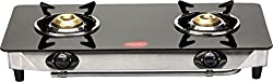 Pigeon Blaze Blackline Glass 2 Burner Cooktop, Black
