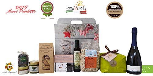 Confezione regalo natalizia originale profumi di sicilia con 10 prodotti di altissima qualità | panettone fiasconaro | pesto di pistacchio bronte dop | idee regalo natale | cesti regalo natale