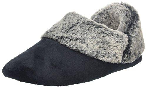 Dearfoams, Pantofole Da Donna Marrone Nero (nero)