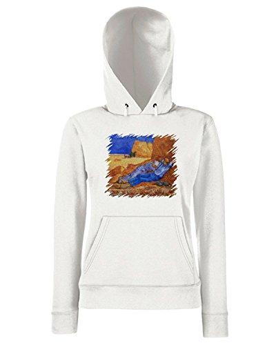 T-Shirtshock - Sweats a capuche Femme TDA0055 van gogh5 la siesta Blanc