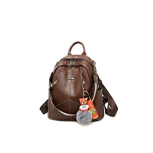 Rucksack Lady Diebstahlsicherung, Black Fashion Travel Bag Rucksack (Color : Brown)