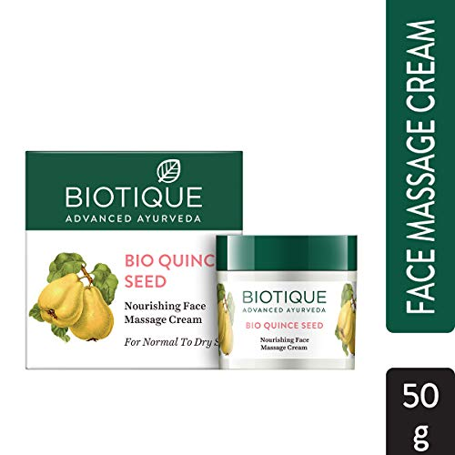 Biotique Bio Quince Seed Nourishing Face Massage Cream For Normal To Dry Skin, 50G